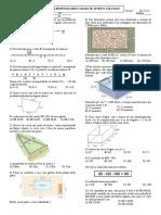 Trabalho de Matemática 1º Bimestre - Números Racionais, Perímetro, Área e Volume.