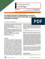 WJC 2014 STEMI vs STE Secondary to Non-Ischemic Etiologies