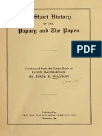 Watson - A Short History of the Papacy and the Popes (1922).pdf
