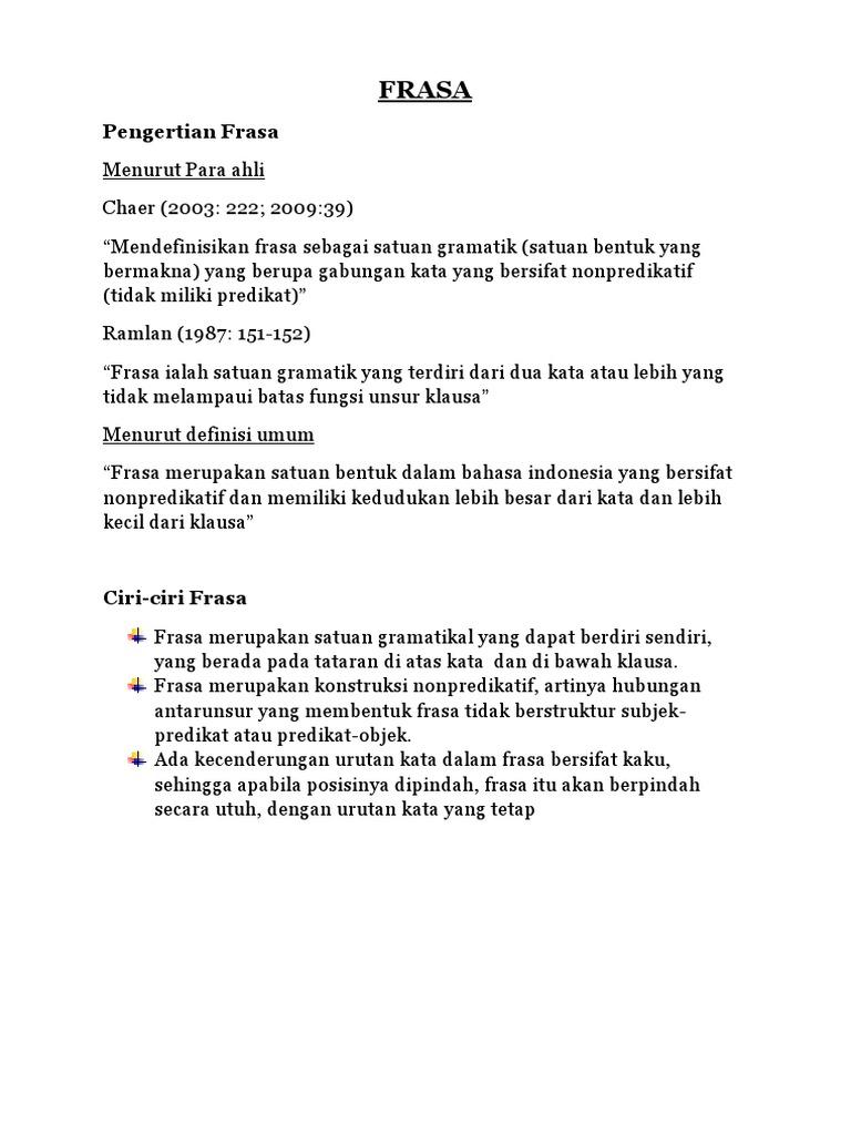 Tugas B Indonesia Frasa
