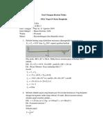 Soal Ulangan Harian Fisika Kelas XI