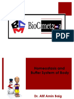 Homeostasis and  Buffer System of Body