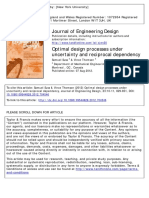Optimal design processes under uncertainty and reciprocal dependency