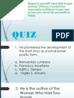 Quiz in Contemporary