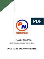 Plan de Gobierno Perú Nación Chaclacayo