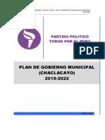 Plan de Gobierno Todos Por El Perú Chaclacayo