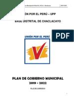 Plan de Gobierno Unión Por El Perú Chaclacayo