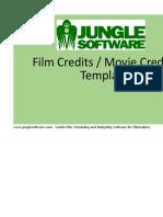 Film Credits Worksheet