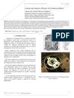 Paper on Design Improvement and Analysis of Rotary Air Compressor Blades