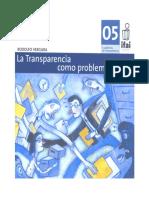 Cuadernillo 5.1 - La Transparencia Como Un Problema