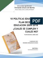 Politicas Educativas -  análisis