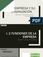 La Empresa y Su Organización - FUNCIONES