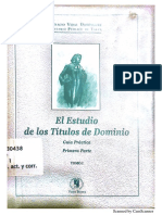 El Estudio de Titulos de Dominio.- Tomo I.- Ignacio Vidal Dominguez 3ra Ed.2001