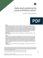 Estado atual e potencial da pesquisa musical na América Latina
