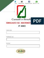 Simulado 02- Matemática - (Blog Do Prof. Adonis).