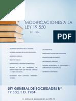 Modificaciones a La Ley 19.550