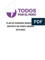 Plan de Gobierno de Todos Por El Perú-Punta Negra