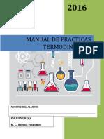 Manual de practicas de Termodinamica