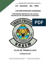 Plan Programa Preventivo Juntas Vecinales 2018