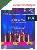 Inauguran Exposición Internacional de Comercio Vietnam Expo 2018