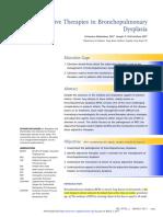 Adjunctive Therapies in Bronchopulmonary Dysplasia, NeoReview 2017