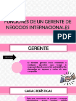 FUNCIONES DE UN GERENTE DE NEGOCIOS INTERNACIONALES