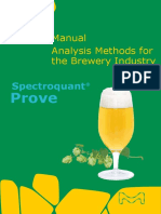 Manual Analysis Methods for the Brewery Industry Prove 05 2018