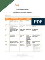 2018 Compliance Calendar