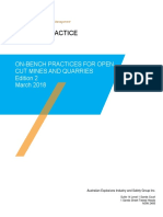 On Bench Practices for Open Cut Mines and Quarries Edition 2 March 2018