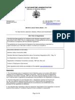 MLD 011 - MLC Title 2.5 Repatriation