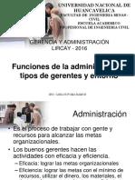 2-Funciones de La Administraci Tipos de Gerentes