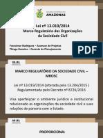 APRESENTAÇÃO Capacitação - Marco Regulatório