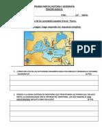 Prueba Parcial Historia y Geografía