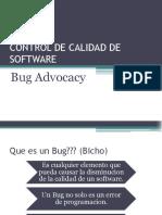 Presentacion de Bug Advocacy 2.3