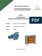 Investigación de Motores Generadores