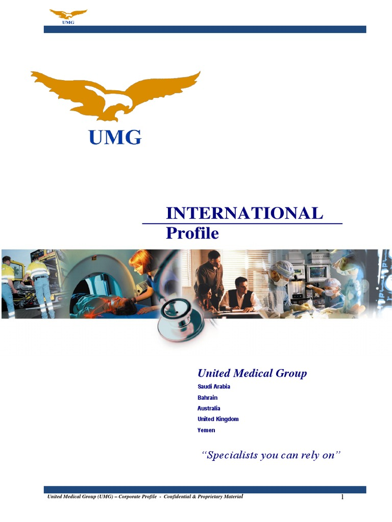 Umg Corporate Profile Public Health Health Care
