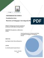 Antología de la producción musical del maestro Carlos Alberto Ortega Salinas