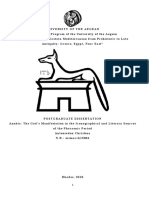 Anubis - The God's Manifestation in the Iconographical and Literary Sources of the Pharaonic Period