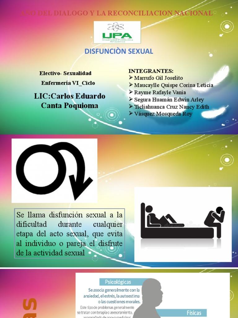 ¿Qué hace la disfunción psicosexual con la excitación sexual inhibida?