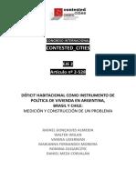 Déficit Habitacional Instrumento Política Vivienda Argentina Brasil Chile.pdf
