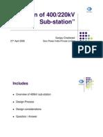 Basic of 400KV Substation Design
