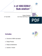 Basic of 400KV Substation Design