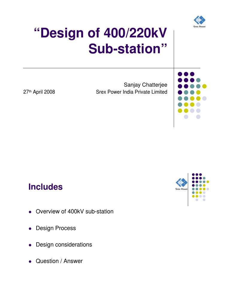Basic of 400KV Substation Design | Electrical Substation | Electric ...