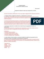 Resolucion Del Examen Parcial de Geoquimica General