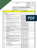 Checklist Pemeriksaan Sistem Hydrant