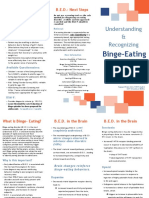 Understanding and recognizing Binge eating disorder brochure for npm 569
