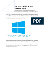 Servicios de Enrutamiento en Windows Server 2016