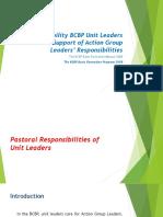 Responsibility BCBP Unit Leaders