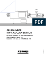 Specification Arburg Allrounder 570c Golden Edition