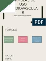 Formulas de Uso Cardiovascular